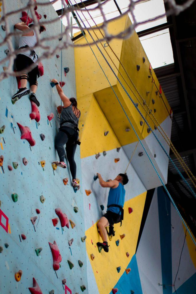 Top rope climbing is one of the safest and easiest ways to get into the sport